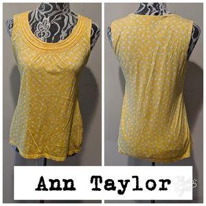 Ann Taylor Loft Sleeveless Yellow Top!
